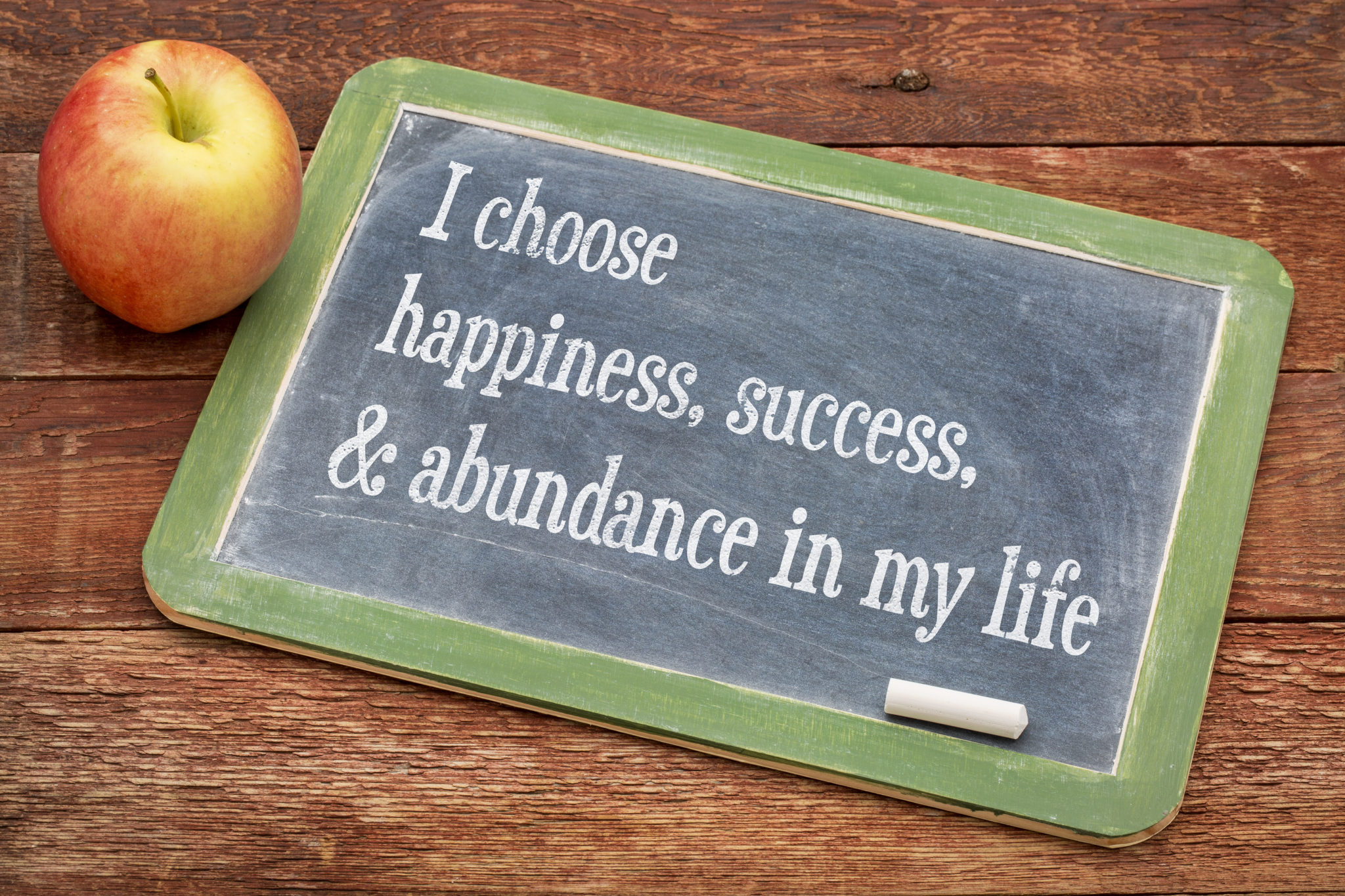 I choose happiness, success and abundance in my life