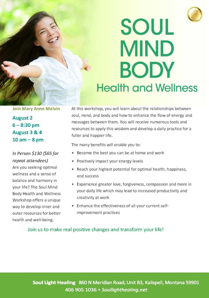 Soul Mind Body Health and Wellness Flyer